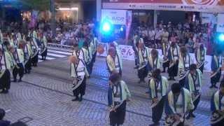 福井大学よっしゃこい2013年度演舞「夢光咲」 フェニックス祭り、ペンタ...