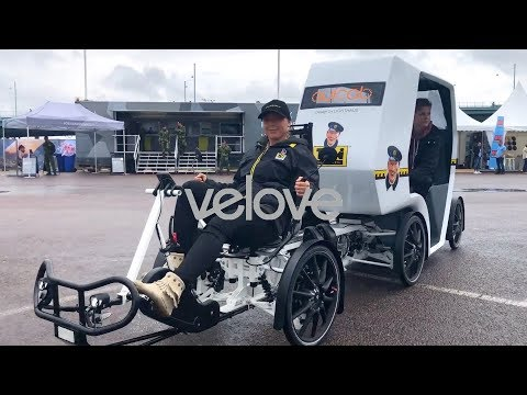 Velove Armadillo with third party taxi module -the Quicab