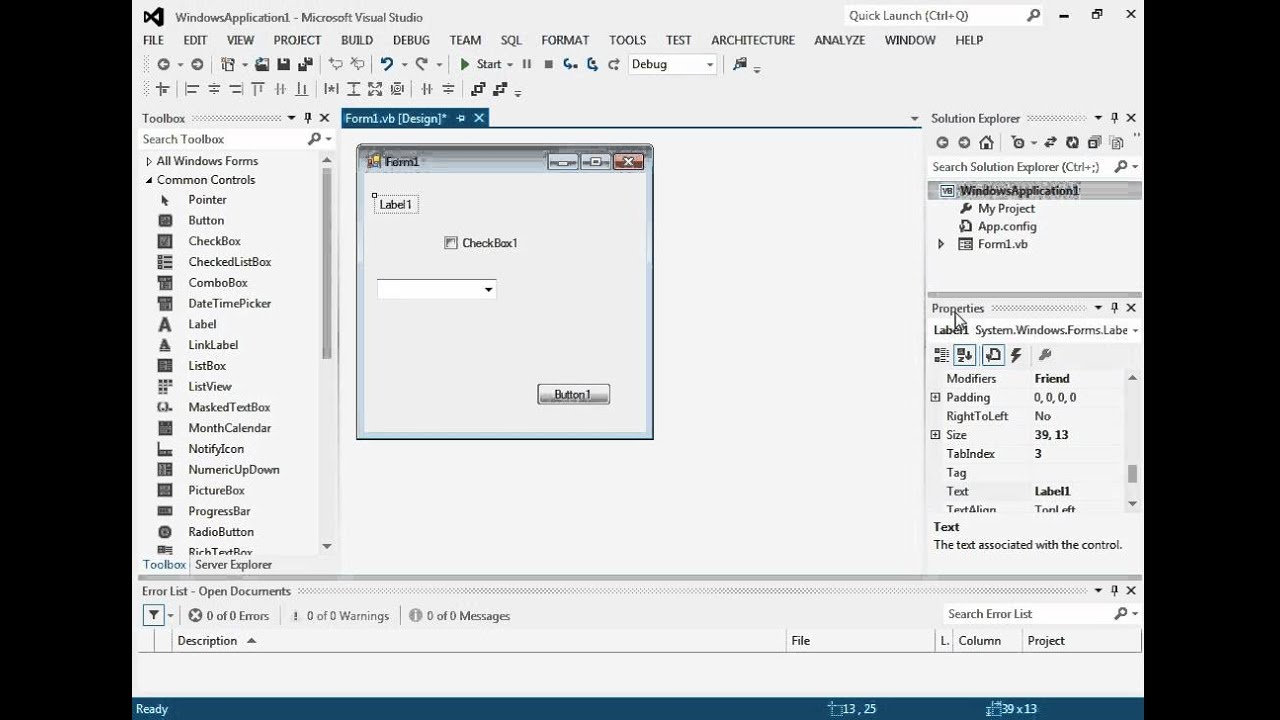 Tutorial 1: Using the Visual Studio IDE