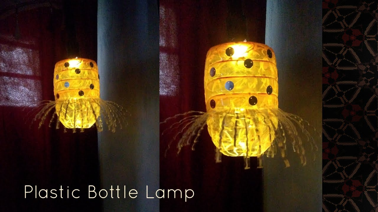 DIY II How to make Hanging Lamp from waste Plastic bottle - YouTube