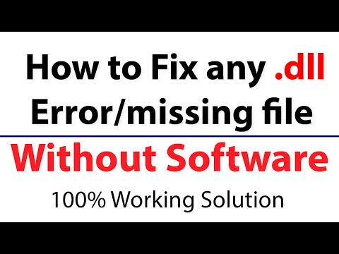 how to solve any type of.dll file errors without software urdu/hindi