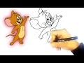 تعليم الرسم للاطفال | كيف ترسم جيري من توم و جيري Tom and Jerry