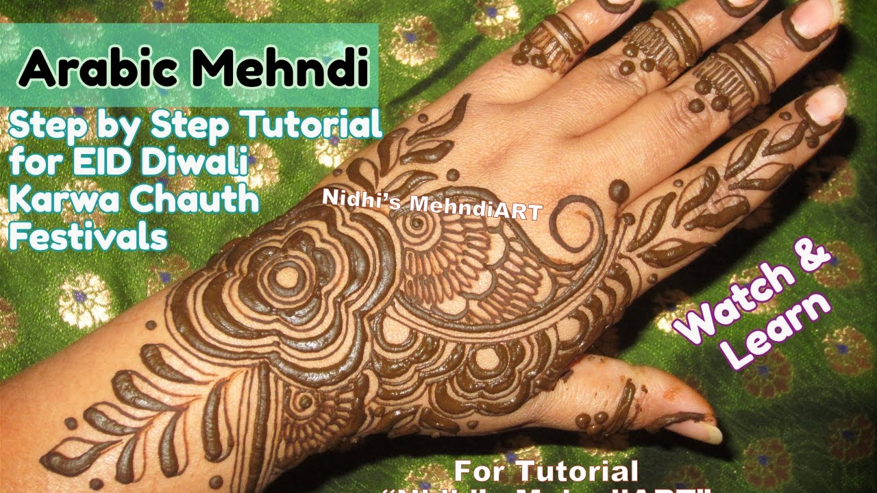 Henna Tattoo Designs For Diwali: Stylish Arabic Mehndi Design For Hands For Marriage