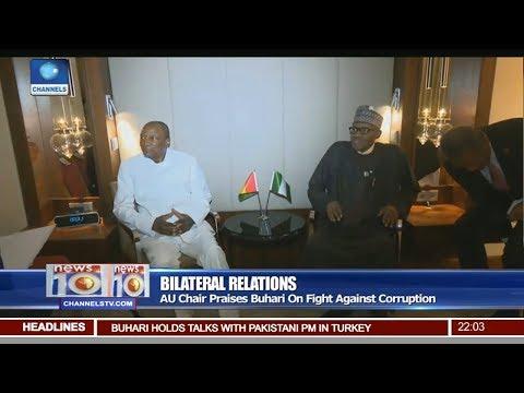 AU Chair Praises Buhari On Fight Against Corruption Pt 1   News@10  