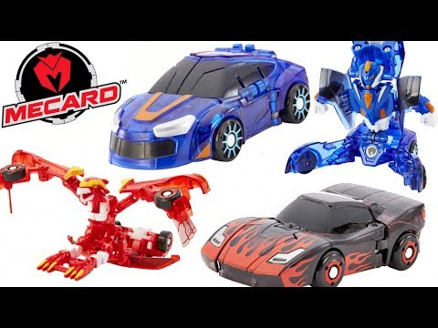 NEW Mecard Transforming Magic Cars Season 1 Battle Challenge Toys Mega Dracha Dragon