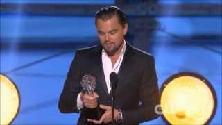 Leonardo DiCaprio Wins Best Actor Comedy @ Critics Choice Awards 2014