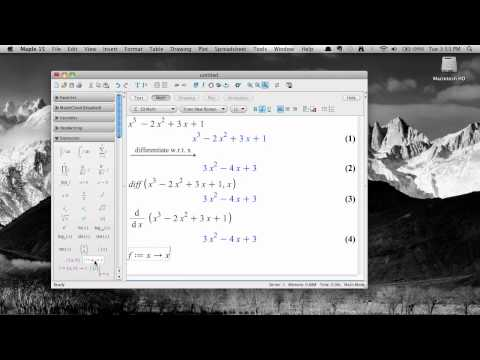 Taking Derivatives In Maple 15