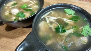 Chicken soup recipe-Oil free healthy and tasty