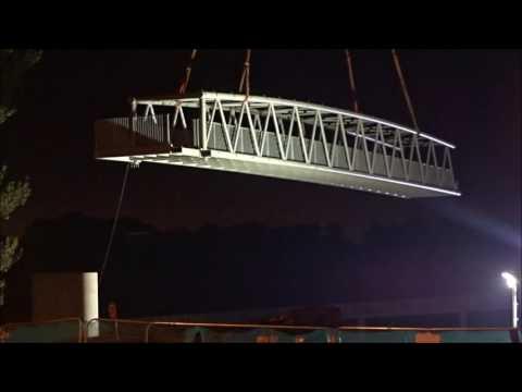 M8 Pedestrian Bridge Lift at Showcase Leisure Park