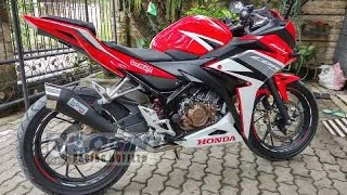 Knalpot Racing cbr 150 facelift 2016 Knalpot model leovince cobra black