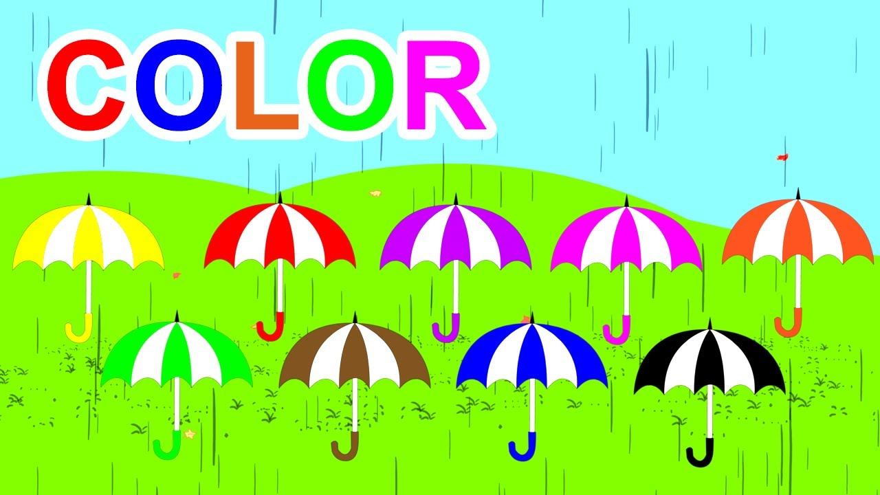 Learn Colors With Umbrella For Kids Children Toddlers - YouTube