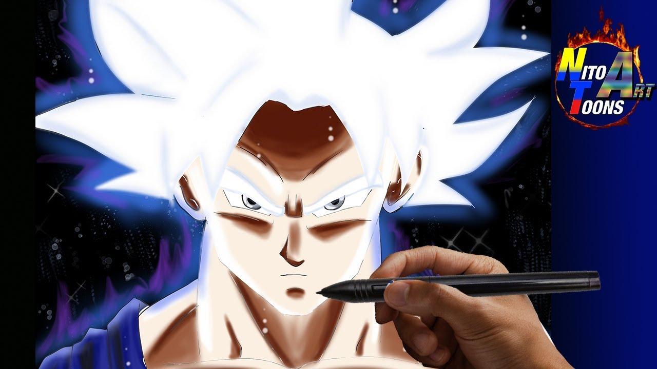 Dibujando A Goku Ultra Instinto Dominado Dragon Ball Super