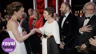 Duke and Duchess of Cambridge meet BAFTA winners including Olivia Coleman and Rami Malek