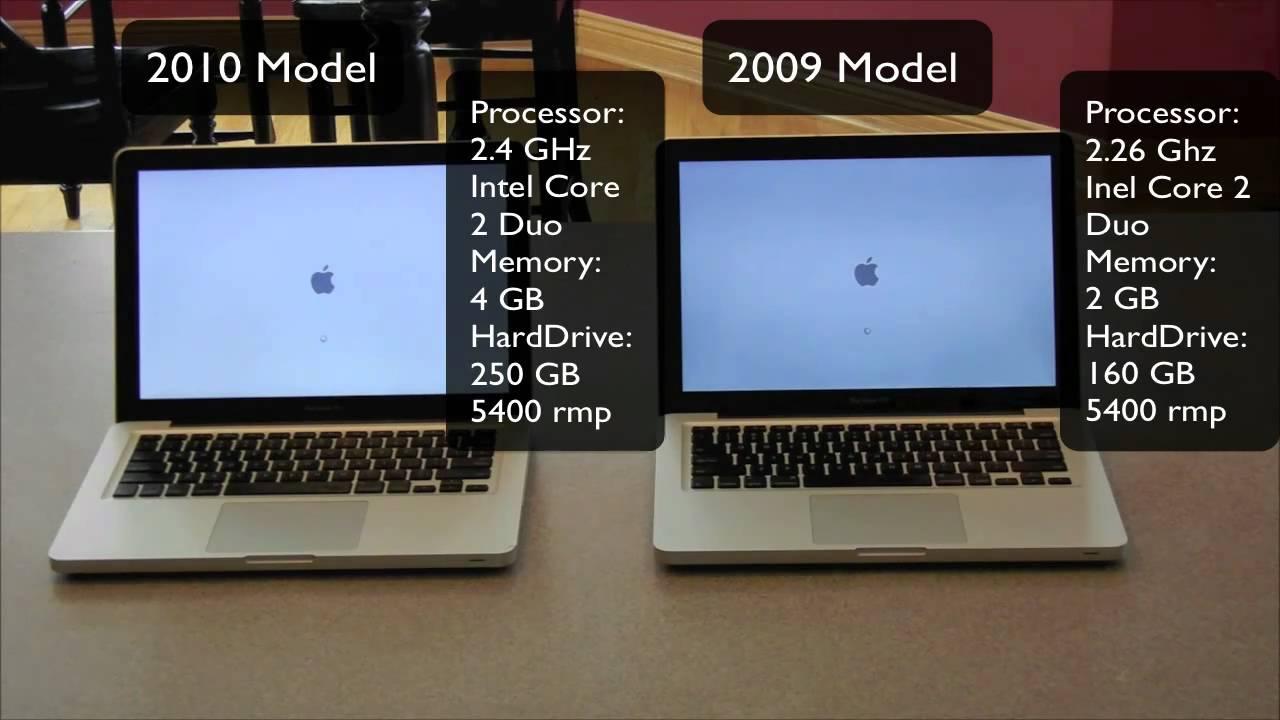 2010 Macbook Pro vs  2009 Speed Test | Bootup & Bootdown | Specs |  Comparison | Benchmark
