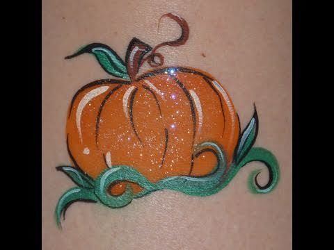 Easy Pumpkin Cheek Art Face Paint How To