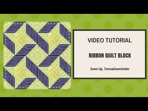 2-minute video tutorial: Ribbon quilt - quick and easy block