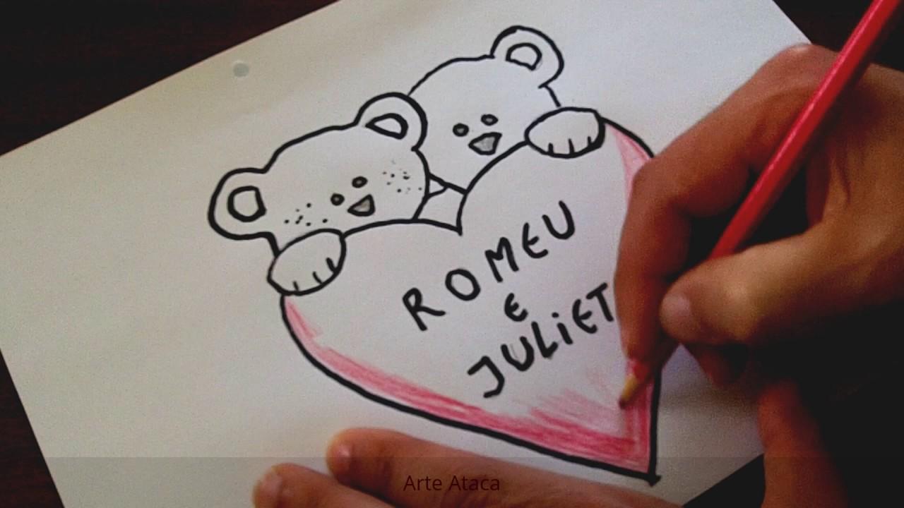 Desenho De Um Coração Romântico Simples