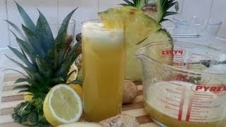 Pineapple Juice With Ginger, Lime And Honey Served With Ice