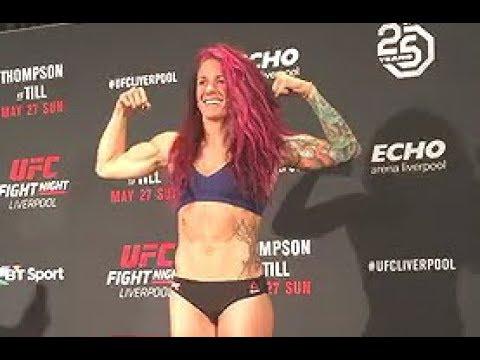 Gina Mazany And Lina Länsberg - Official Weigh-ins - (UFC Fight Night: Thompson Vs. Till) - /r/WMMA