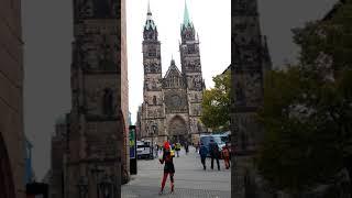 聖羅倫茲教堂⋅St  Lorenz Kirche建於1270年至1477年哥德式教堂德國紐倫堡Nuremberg of Germen