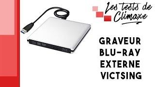 Test d'un graveur externe Blu-ray, DVD et CD Victsing de couleur gris alumiunium