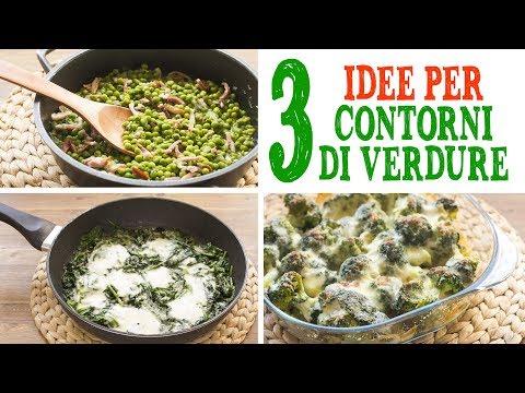 3 IDEE PER CONTORNI DI VERDURE | Piselli con Pancetta | Broccoli Gratinati | Spinaci Filanti