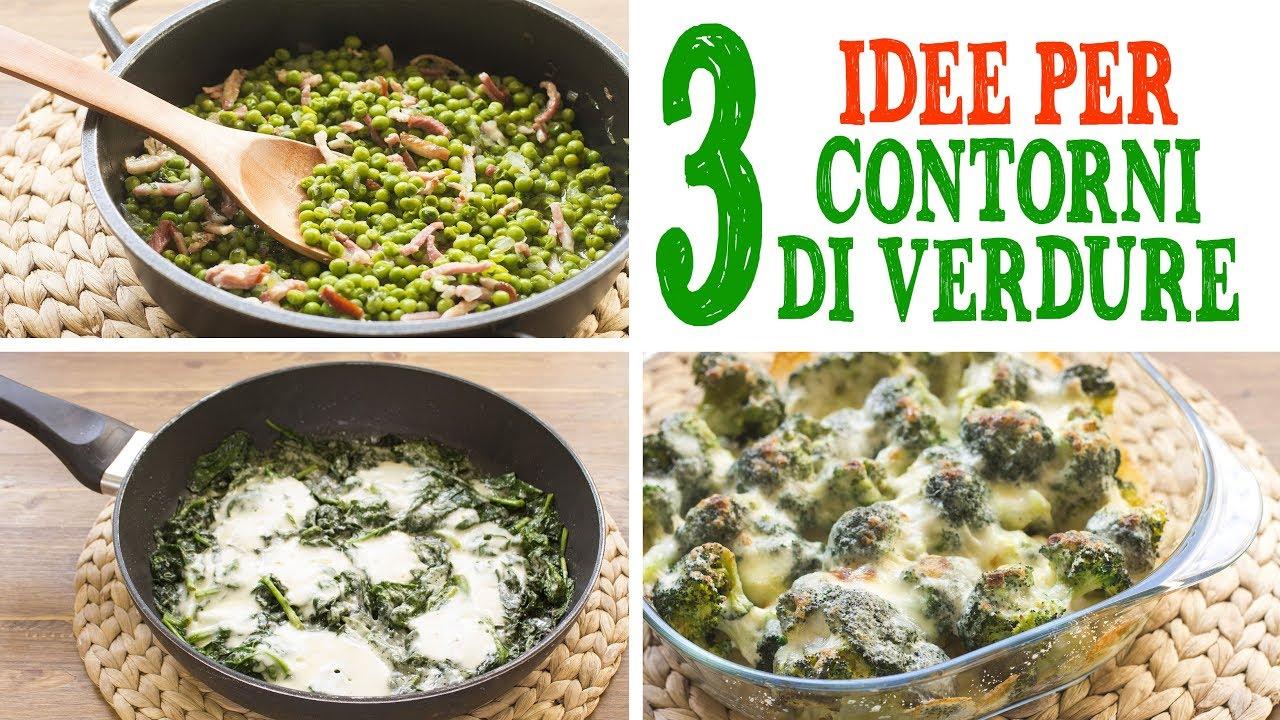 Estremamente 3 IDEE PER CONTORNI DI VERDURE | Piselli con Pancetta | Broccoli  MU32