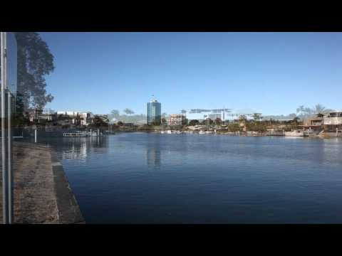 Gold Coast Canal From Chevron and Cronin Island. 13th October 2012