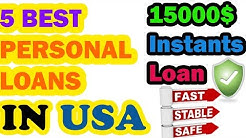 5 BEST PERSONAL LOANS in the USA - Borrow 15000$ with Bad Credit history
