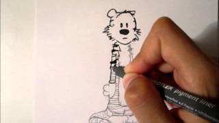 "Drawing Hobbes from ""Calvin and Hobbes"""
