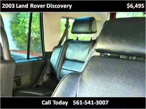 2003 Land Rover Discovery Used Cars West Palm Beach FL