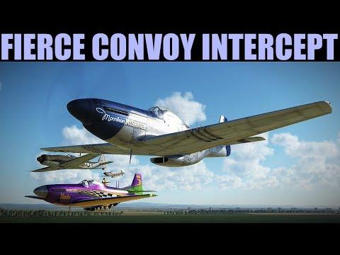 MASSIVE Dogfight During High Altitude Convoy Intercept   DCS WORLD