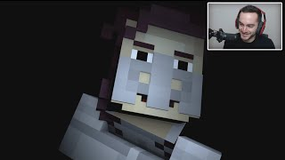 Youtubers react to the END of Minecraft Story Mode SEASON 2 Episode 2!?!!?