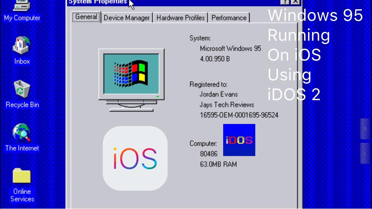 Running Windows 95 On iOS 12 x, 11 x, 10 x Using iDOS 2, PowerDOS From The  App Store [No Jailbreak]