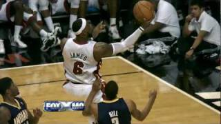LeBron James completed the And 1 layup with a silky smooth finger r...