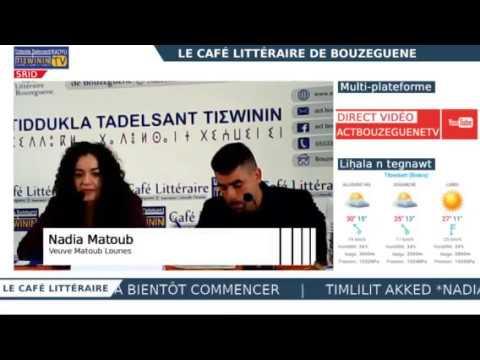 Le Café littéraire : Timlilit akked/Rencontre avec Nadia Matoub - SRID / LIVE