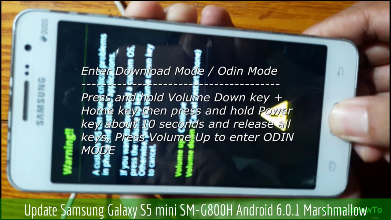 Update Samsung Galaxy S5 mini SM-G800H to Android 6 0 1 Marshmallow