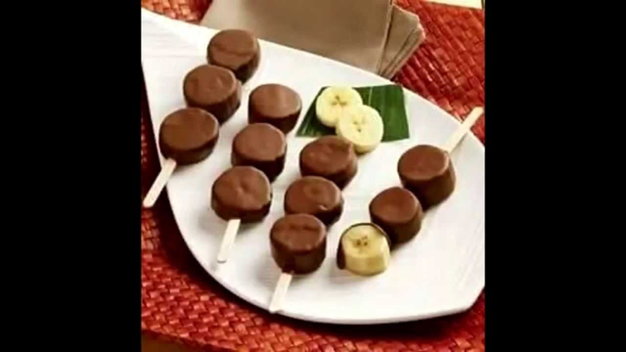 resep makanan - es pisang lumur coklat - YouTube