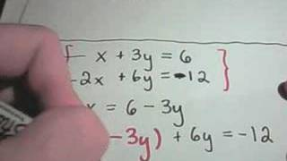 ❖ Solving Linear Systems of Equations Using Substitution ❖ thumbnail