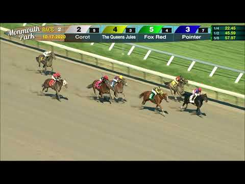 video thumbnail for MONMOUTH PARK 10-17-20 RACE 2