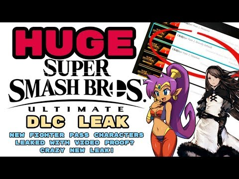 HUGE Smash Ultimate DLC Leak! NEW FIGHTER PASS CHARACTERS LEAKED WITH VIDEO PROOF?! CRAZY NEW LEAK! thumbnail