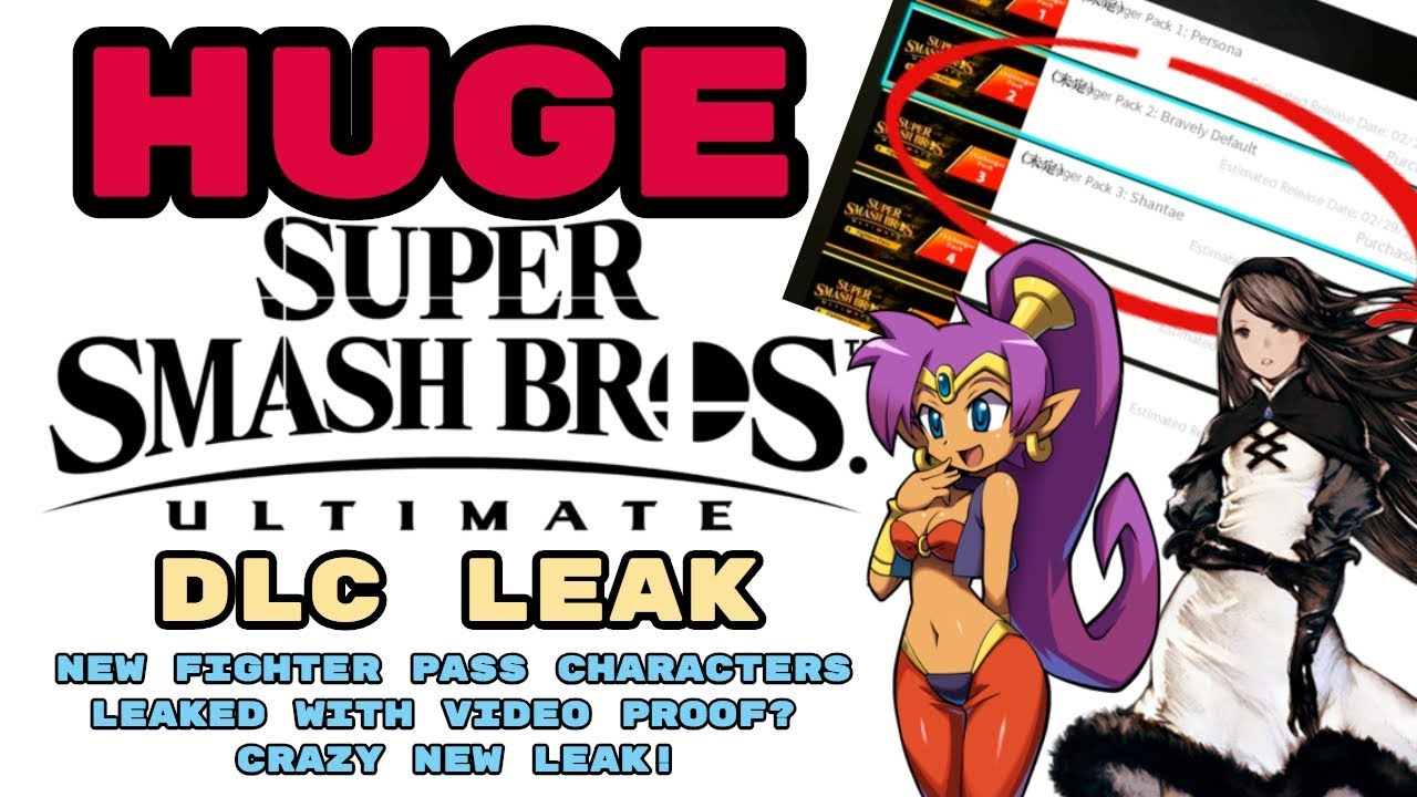 HUGE Smash Ultimate DLC Leak! NEW FIGHTER PASS CHARACTERS LEAKED WITH VIDEO  PROOF?! CRAZY NEW LEAK!