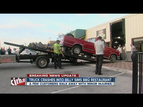 Truck Crashes Into Billy Sims BBQ
