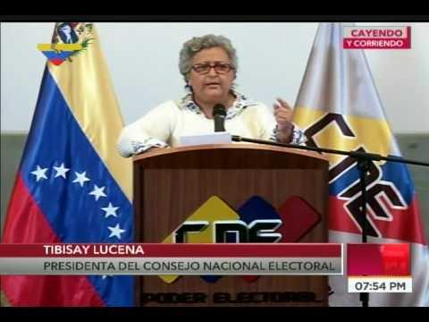 Rectora del CNE anuncia que se repetirán elecciones de constituyentes en dos municipios