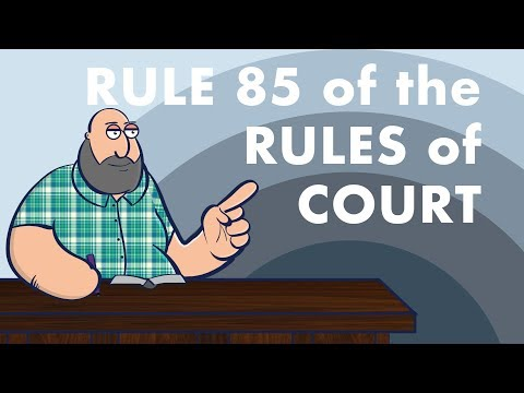 Rule 85 of the Rules of Court [SPECIAL PROCEEDINGS]