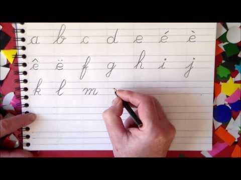 Apprendre à lire lettres alphabet français et écrire en maternelle et au cp
