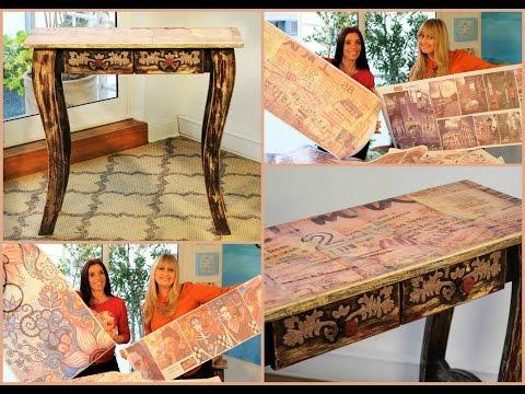 Sublimacion sobre azulejos y madera - Mesa Vintage