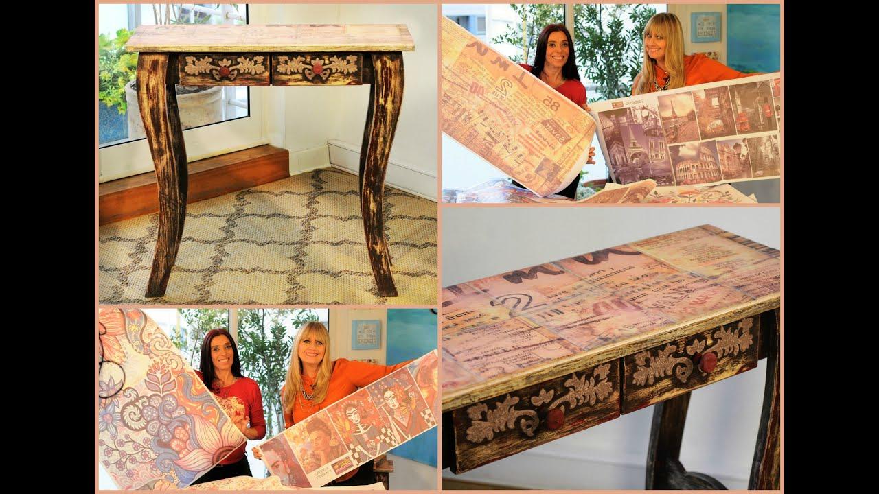 Sublimacion sobre azulejos y madera mesa vintage youtube - Mesas con azulejos ...