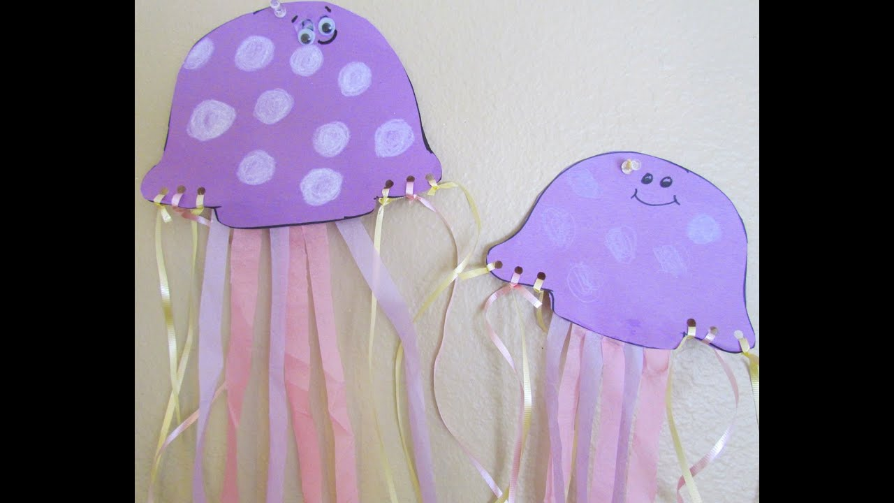 Diy Jellyfish Decorations How To Make A Paper Jellyfish Craft Youtube