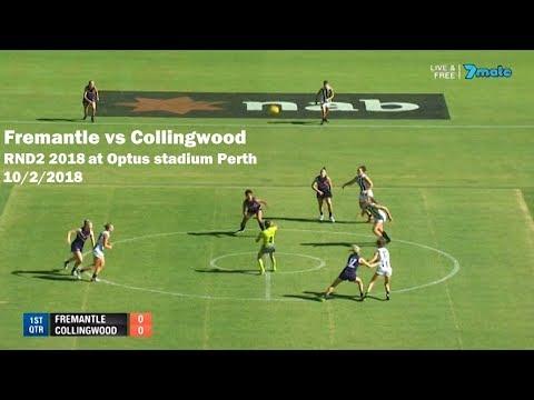 AFLW RND2 2018 Fremantle vs Collingwood | Goals, behinds, highlights & team song